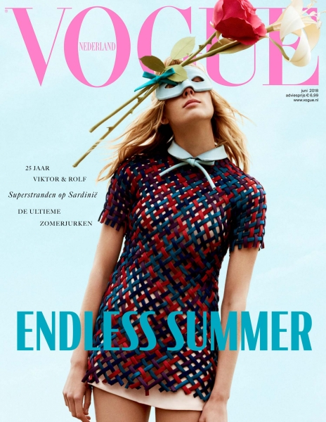 Annely on the cover of Vogue NL