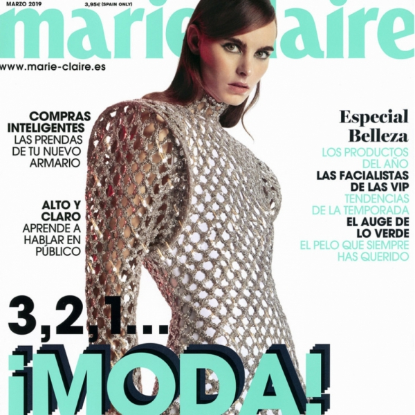Estella on the cover of Marie CLaire Spain