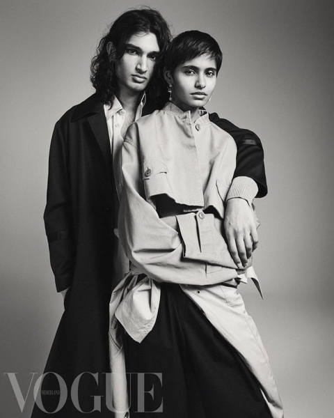 Our handsome Daanisj and his beautiful girlfriend featured in this month's Vogue NL