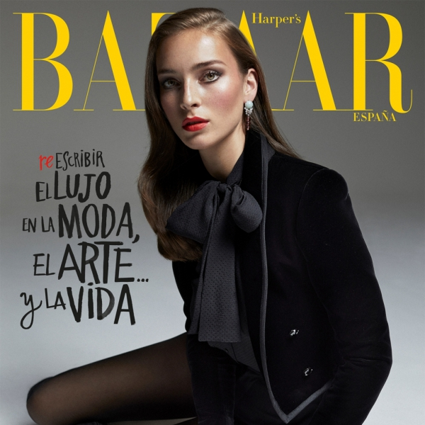 Julia on the cover of Harper's Bazaar España