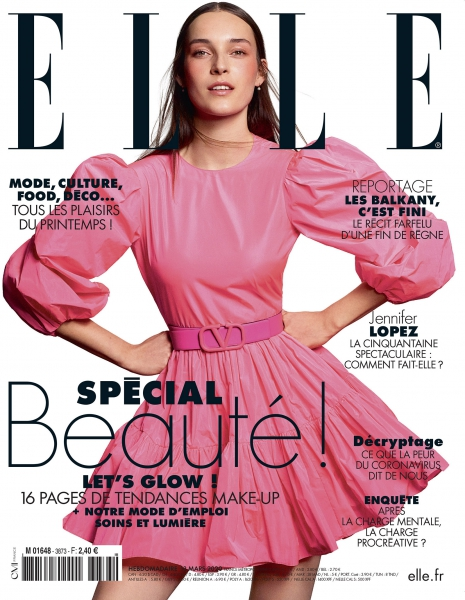 Julia Bergshoeff on the cover of Elle France