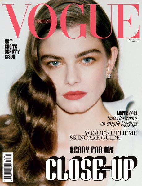 Merlijne on the cover of Vogue NL