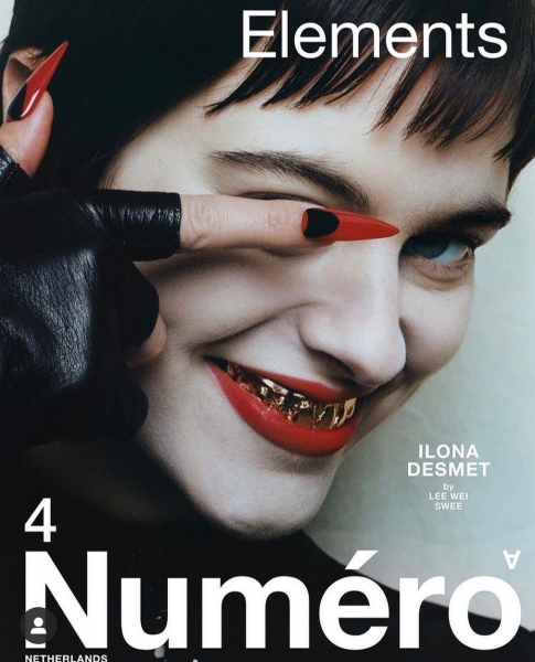 Ilona on the cover of Numéro Netherlands
