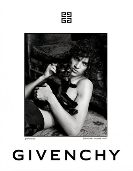 Elias Bouremah teasing for Givenchy F/W17 Campaign by Steven Meisel and Joe McKenna.